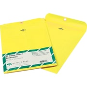Quality Park 9 x 12 Yellow Clasp Envelopes, 10/Pack