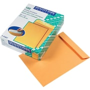 "Quality Park Gummed Open-End Catalog Envelopes, 10"" x 13"", Brown, 100/Bx"