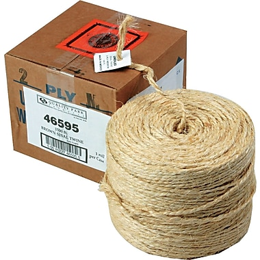 Brown Sisal Twine, 1500 Feet, Two-Ply