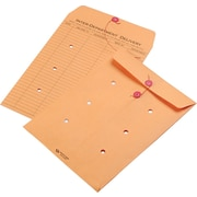 """Quality Park String & Button One-Sided Standard Style Inter-Department Envelopes, 9"""" x 12"""", Brown, 100/Ct"""
