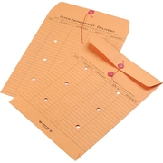 "Quality Park String & Button Recycled Two-Sided Standard Style Inter-Department Envelopes, 10"" x 13"", Brown, 100/Ct"
