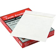 "Quality Park Flap-Stick® Lightweight Tyvek® Open-End Expansion  Envelopes, 10"" x 13"" x 1 1/2"", White, 25/Bx"