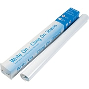 "Write On-Cling Perforated Poly Static Sheets™, White, 27"" x 34"", 35 Sheets/Pad"