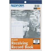 "Rediform® Carbonless Receiving Record Books, 5-1/2"" x 7-7/8"", 2 Part"