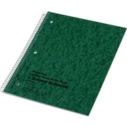 "National Brand Wirebound 1-Subject Pressboard Notebook, 11"" x 8 1/2"", College/Margin Ruled, 80 Sheets/Book"