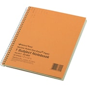 "Rediform Wirebound 1-Subject Green Tint Notebook, 8 1/4"" x 6 7/8"", Narrow Ruled, 80 Sheets/Book"