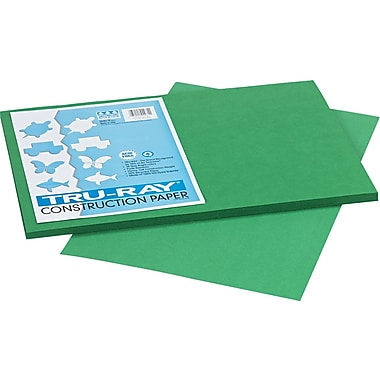 Tru-Ray® Sulphite Construction Paper, 12in. x 18in., Holiday Green, 50 Sheets