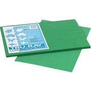 "Tru-Ray® Sulphite Construction Paper, 12"" x 18"", Holiday Green, 50 Sheets"
