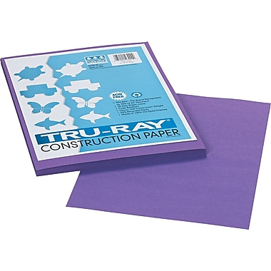 Tru-Ray® Sulphite Construction Paper, 9in. x 12in.,  Violet, 50 Sheets