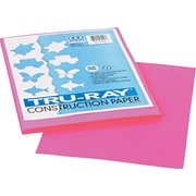 "Tru-Ray® Sulphite Construction Paper, 9"" x 12"", Shocking Pink, 50 Sheets"