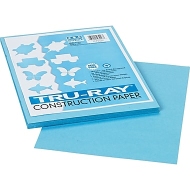 Tru-Ray® Sulphite Construction Paper, 9in. x 12in., Sky Blue, 50 Sheets