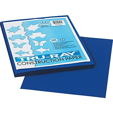 Tru-Ray® Sulphite Construction Paper, 9in. x 12in., Royal Blue, 50 Sheets