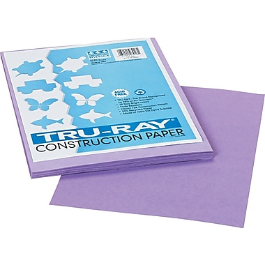 Tru-Ray® Sulphite Construction Paper, 9in. x 12in., Lilac, 50 Sheets
