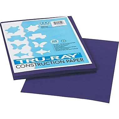 Tru-Ray® Sulphite Construction Paper, 9in. x 12in., Purple, 50 Sheets
