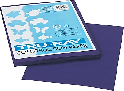 "Pacon Tru-Ray Construction Paper 12"" x 9"", Purple (103019)"