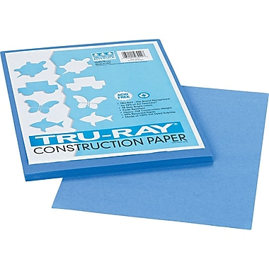 Tru-Ray® Sulphite Construction Paper, 9in. x 12in., Blue, 50 Sheets