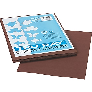 Tru-Ray® Sulphite Construction Paper, 9in. x 12in., Dark Brown, 50 Sheets