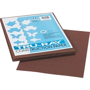 Tru-Ray® Sulphite Construction Paper, 9 x 12, Dark Brown, 50 Sheets