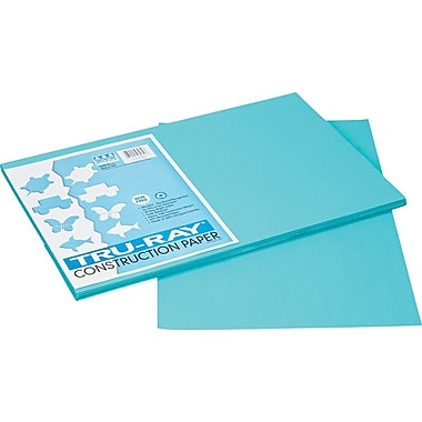 Tru-Ray® Sulphite Construction Paper, 12in. x 18in. , Turquoise, 50 Sheets