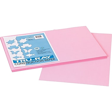Tru-Ray® Sulphite Construction Paper, 12in. x 18in. , Pink, 50 Sheets
