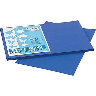 Tru-Ray® Sulphite Construction Paper, 12in. x 18in., Royal Blue, 50 Sheets