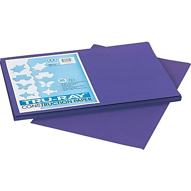 Tru-Ray® Sulphite Construction Paper, 12in. x 18in., Purple, 50 Sheets