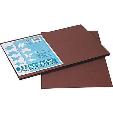 Tru-Ray® Sulphite Construction Paper, 12in. x 18in. ,Dark Brown, 50 Sheets