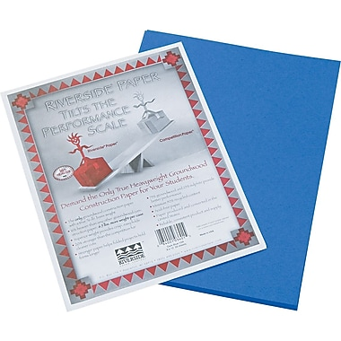 Riverside® Groundwood Construction Paper, 9in. x 12in., Dark Blue, 50 Sheets