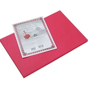 """Pacon Riverside Construction Paper 18"""" x 12"""", Red (103614)"""
