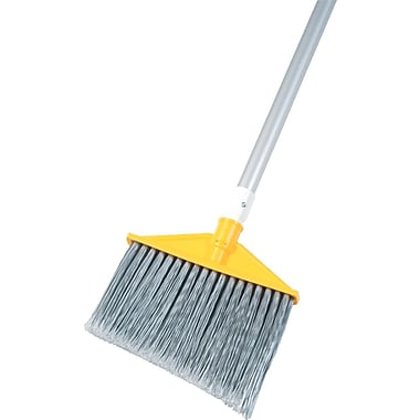 Rubbermaid Angled Broom, Aluminum Handle