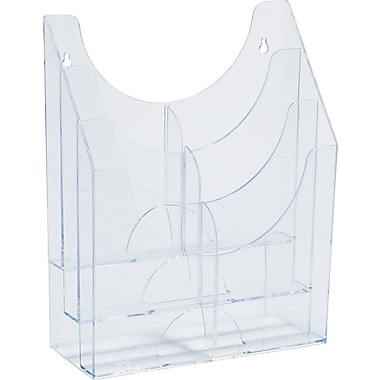 SBS SuperRack Multi-Purpose Organizer, 6 Pockets, Clear, 12