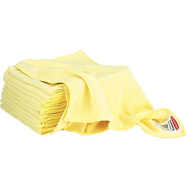 Rubbermaid HYGEN™ Microfiber All-Purpose Cleaning Wiping Cloths, Yellow, 16in., 12/Pack