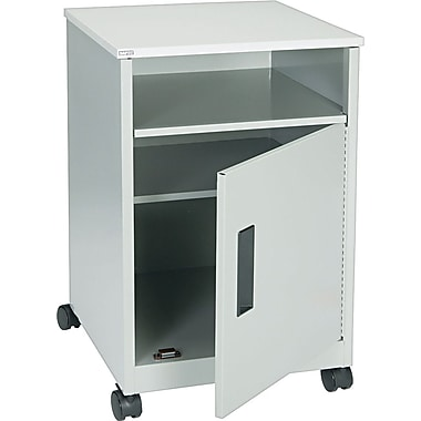 Safco Steel Machine Stand with Closed Storage, Gray