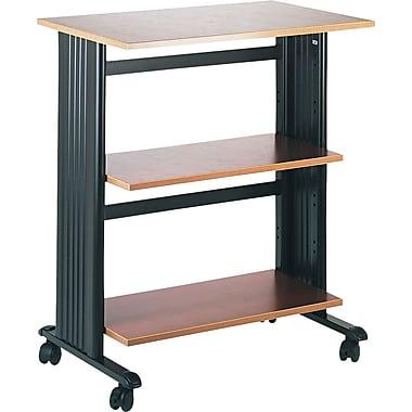 Safco® Three Level Adjustable Machine Stand, Cherry