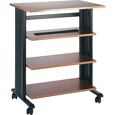 Safco Four Level Printer Stand, Cherry