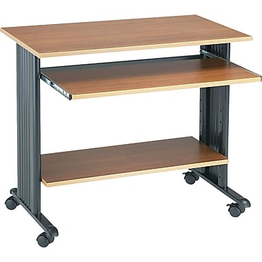 Safco 35in.W Fixed Height Workstation, Oak
