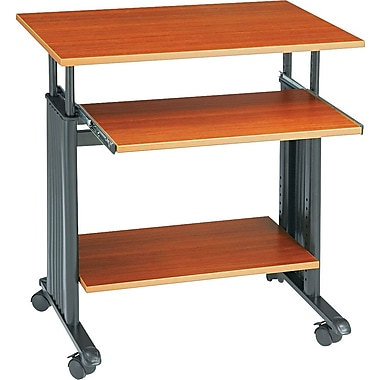 Safco Adjustable Height Workstation, Cherry