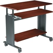"Safco® 35"" Adjustable Height Workstation, Cherry"