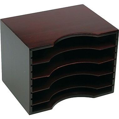Safco® Mahogany Wood Stackable Sorter