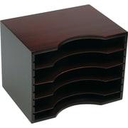 Safco® Mahogany Wood Stackable Sorter