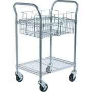 Safco® Steel Mail Cart, 75 Folder Capacity, 38 1/2H x 18 3/4W x 26 3/4D