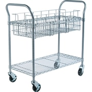 Safco® Steel Mail Cart, 150 Folder Capacity, 38 1/2H x 18 3/4W x 39D