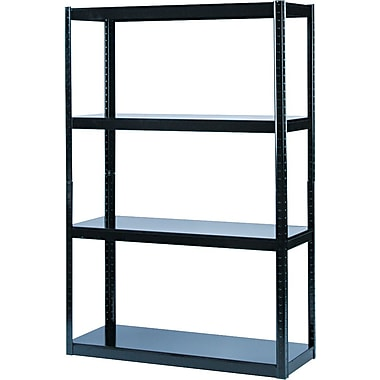 Safco Commercial Boltless Steel Shelving, 5 Shelves, Black, 72in.H x 48 1/8in.W x 18in.D
