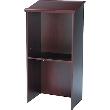 Safco® Stand-Up Lectern With Adjustable Shelf, Mahogany