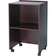"Safco Lectern Base/Media Cart, Mahogany/Black, 33 3/4""H x 21 1/4""W x 17 1/2""D (8917MH)"