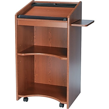 Safco® Executive Mobile Lectern, Medium Oak