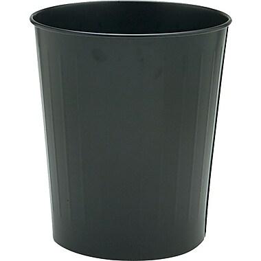 Safco® Firesafe Round Steel Wastebaskets, Black, 5.87 gal.