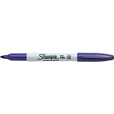 Sharpie® Permanent Markers, Fine Tip, Purple, Dozen