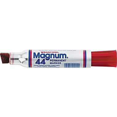 Sharpie® Magnum® Permanent Marker, Jumbo Chisel Point, Red, Each
