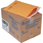"Sealed Air Corporation Jiffylite Self Seal Kraft Cushioned Mailers, Side Seam, #1, Satin Gold, 7 1/4""W x 12""L, 25/Ct"